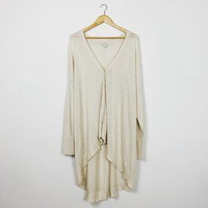 Sejour Ivory High Low Knit Cardigan